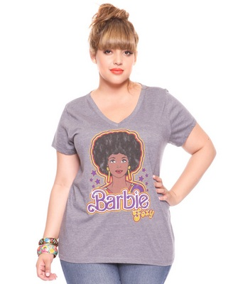 Cool afro barbie tee curlynikki forums for Black barbie t shirts