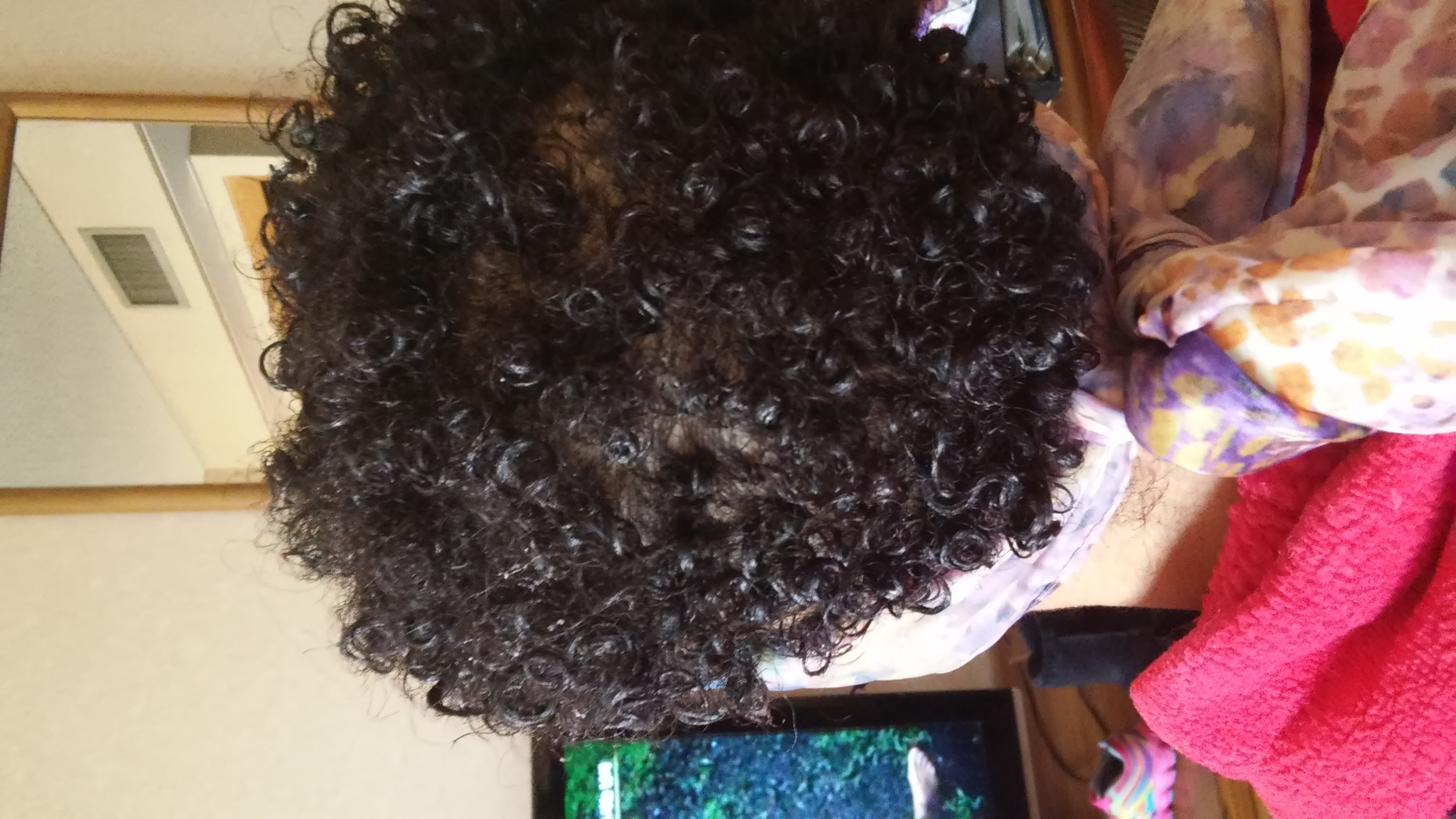 Dry hair with product